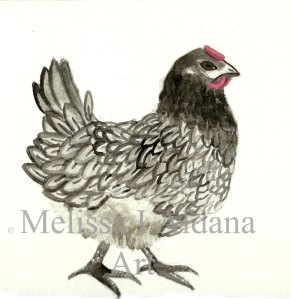 Blue Bell Chicken painting